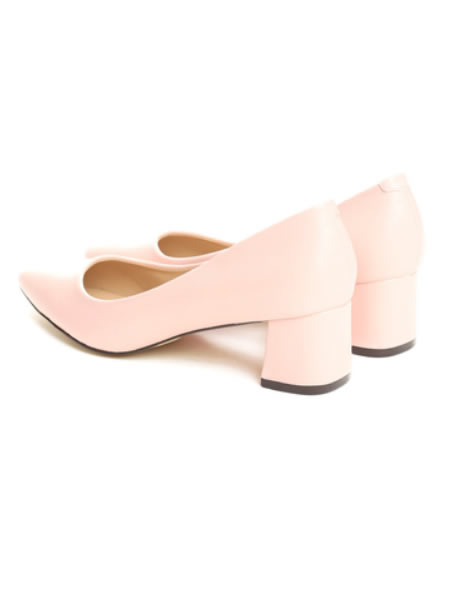 Pantofi Eleganti Cu Toc Mic Patrat Si Varf Ascutit
