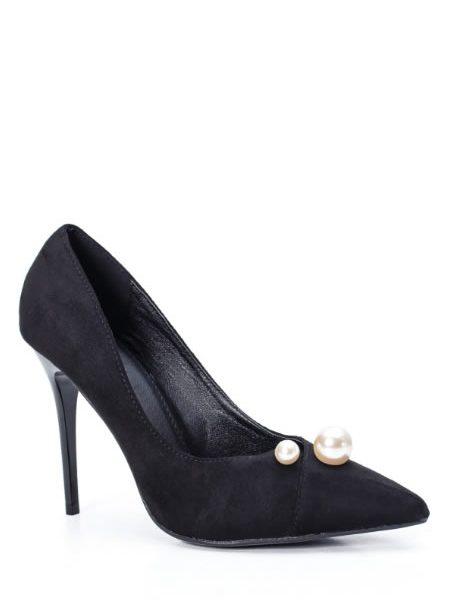 Pantofi Eleganti Cu Toc Si Perle