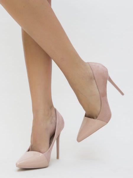 Pantofi Eleganti De Lac Roz