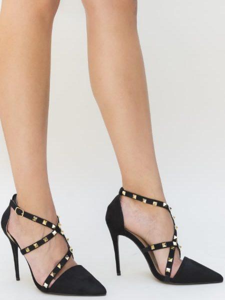 Pantofi Eleganti Din Imitatie De Piele Cu Tinte