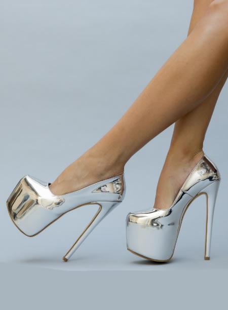 Pantofi Inalti Cu Platforma Si Toc