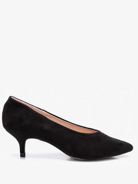 Pantofi Negri Cu Toc Mic Subtire