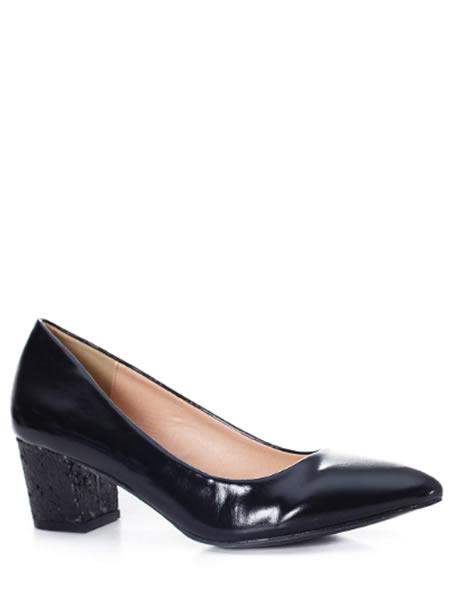 pantofi bej lacuiti din piele lacuita lac | LaFrivole.com