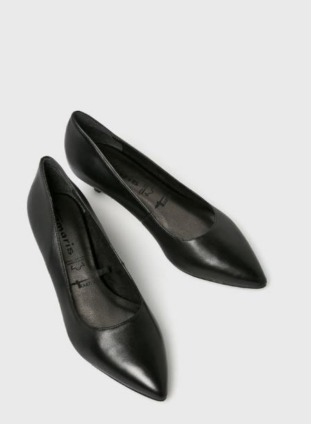 Pantofi Negri Eleganti Cu Toc Mic Jos
