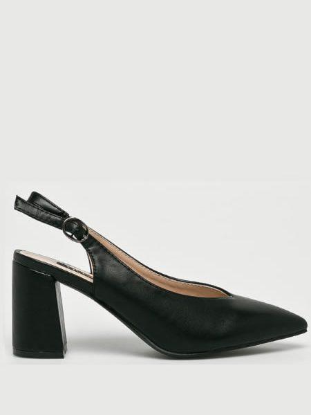 Pantofi Negrii Cu Toc Mediu Gros