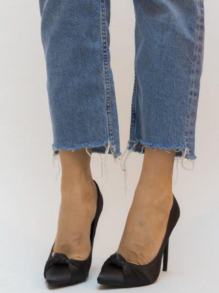Pantofi Negrii Satin