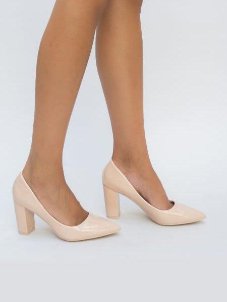 Pantofi Nud Cu Toc Mai Gros