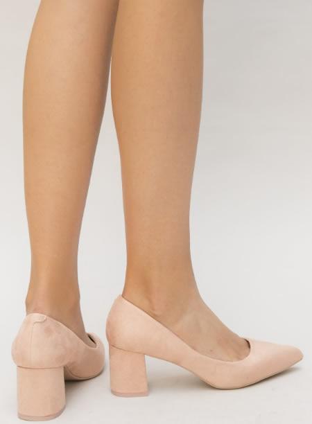 Pantofi Nude Cu Toc Mic