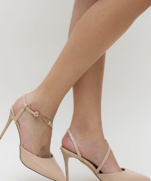 Pantofi Nude Ieftini Cu Toc