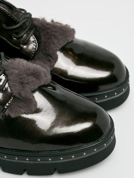 Pantofi Oxford Dama Cu Blana