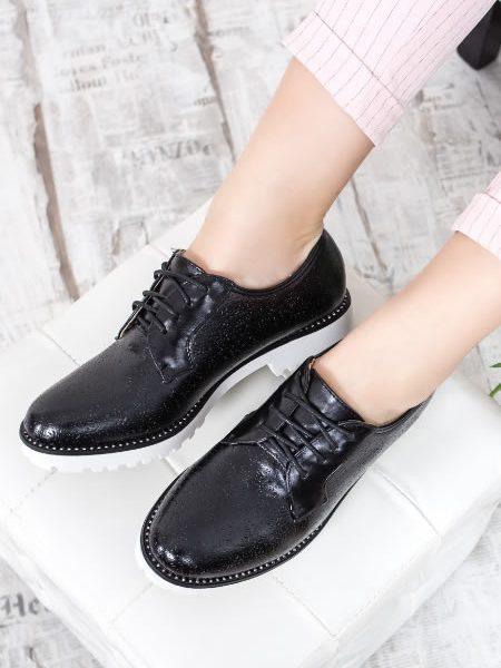 Pantofi Oxford Dama Negri Ieftini