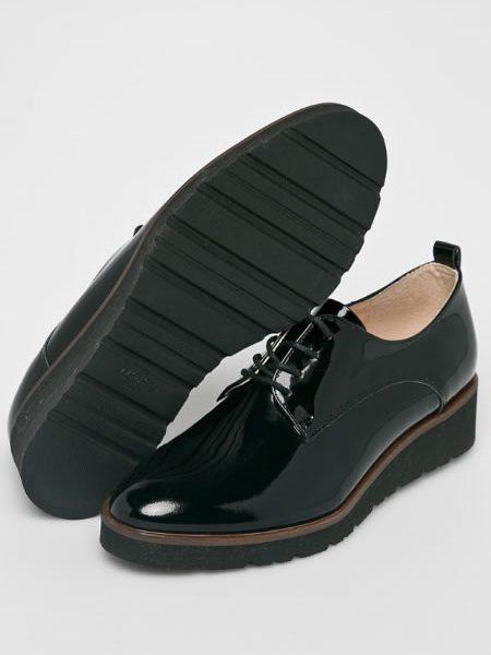 Pantofi Oxford Dama Piele Lacuita