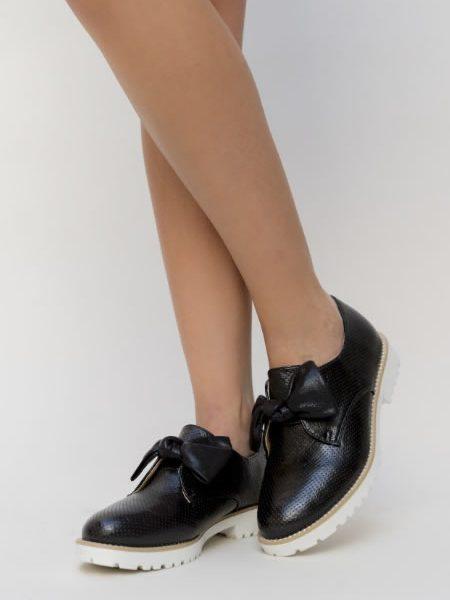 Pantofi Oxford Feminini Negr