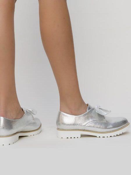 Pantofi Oxford Gri Eleganti