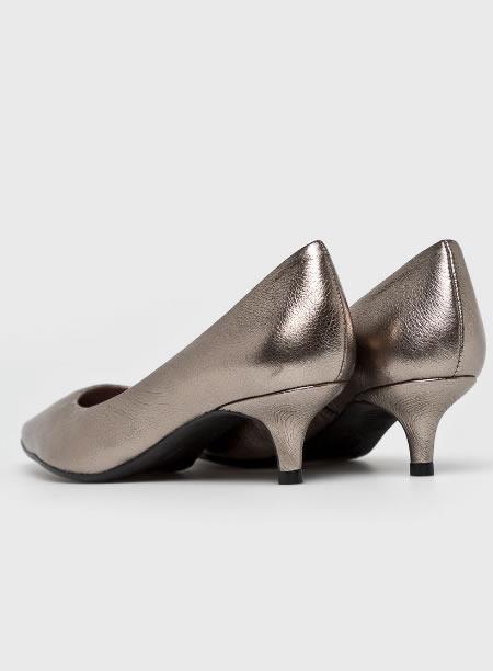 Pantofi Piele Cu Toc Jos Mic