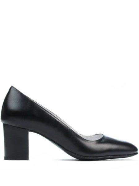 Pantofi Piele Cu Toc Mediu