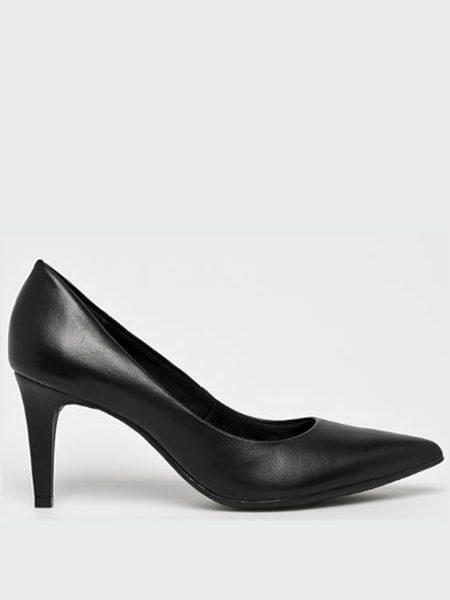 Pantofi Piele Cu Toc Mediu Subtire