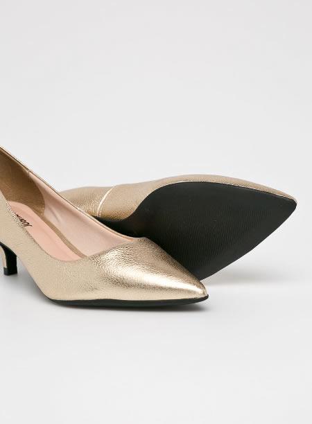 Pantofi Piele Kitten Heel