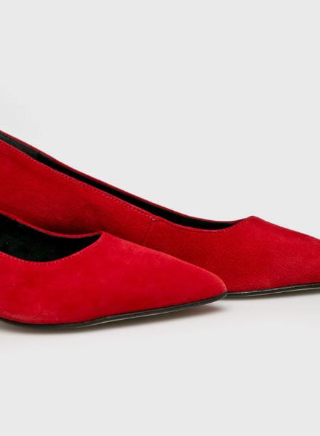 Pantofi Piele Rosii Toc Jos Dama