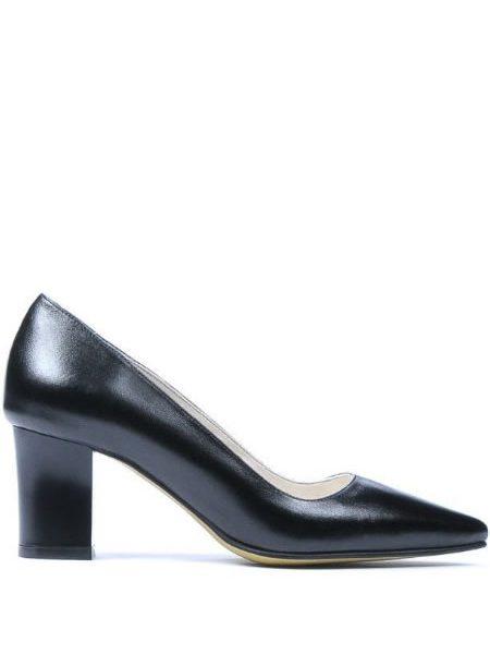 Pantofi Piele Toc Mediu Cu Varf Ascutit