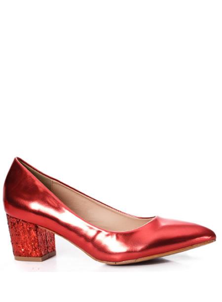Pantofi Rosii De Seara Cu Toc Mic