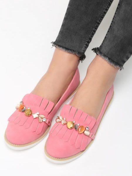 Pantofi Roz De Dama Mocasini