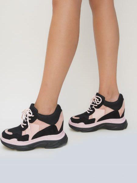 Pantofi Sport Cu Platforma De Vara Roz