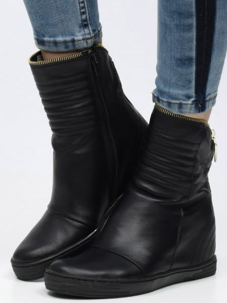 Pantofi Sport Dama Din Piele Naturala Negri