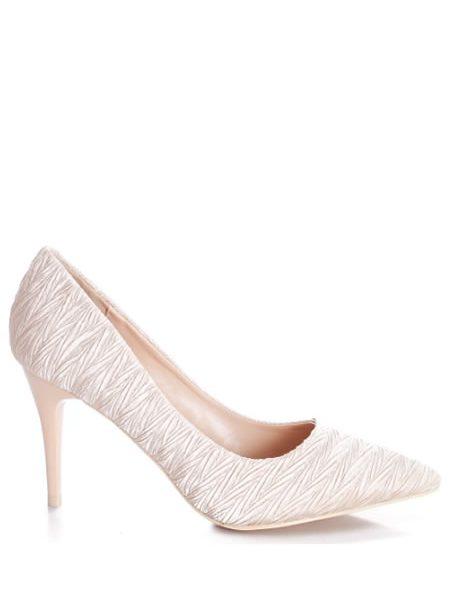 Pantofi Stiletto Bej De Ocazie