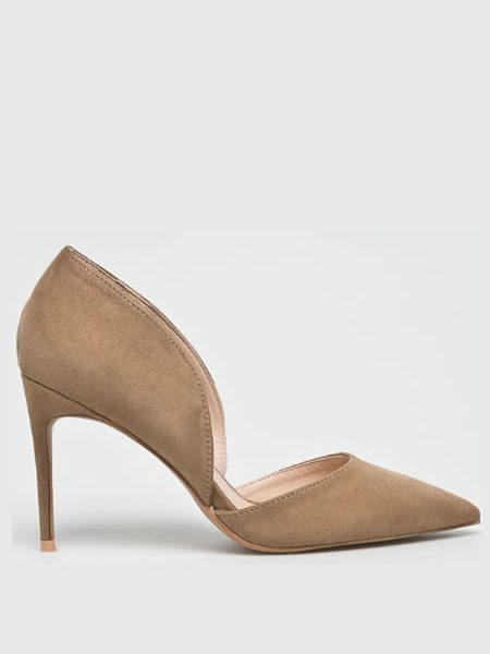 pantofi stiletto bej inchis