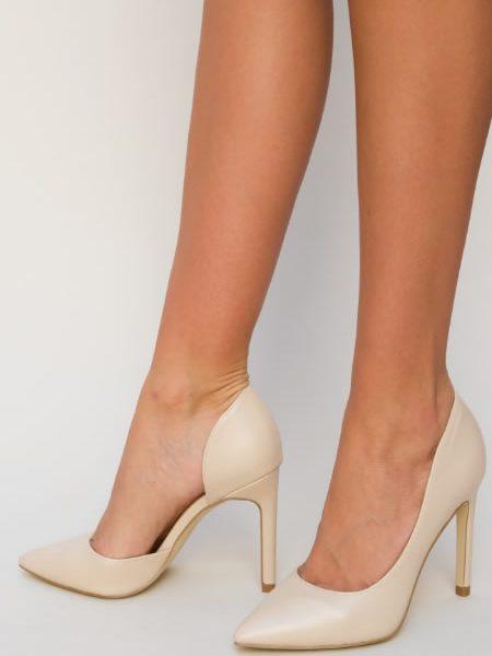 Pantofi Stiletto Bej Pret
