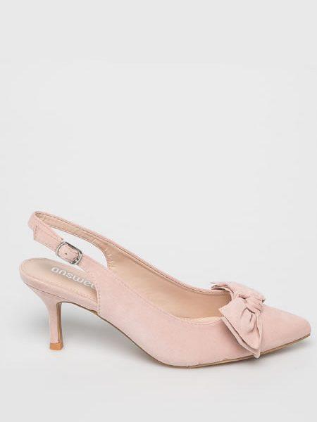 Pantofi Stiletto Cu Toc Mic Roz