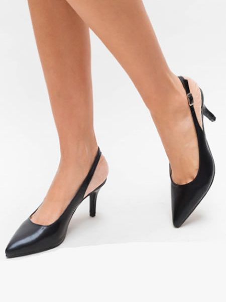 Pantofi Stiletto De Vara Negri