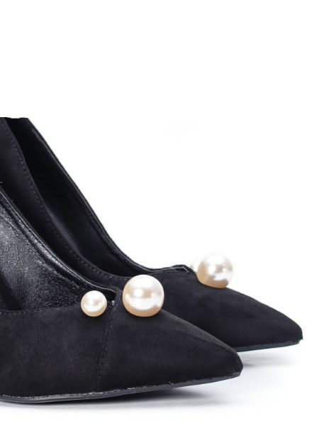 Pantofi Stiletto Eleganti Cu Perle