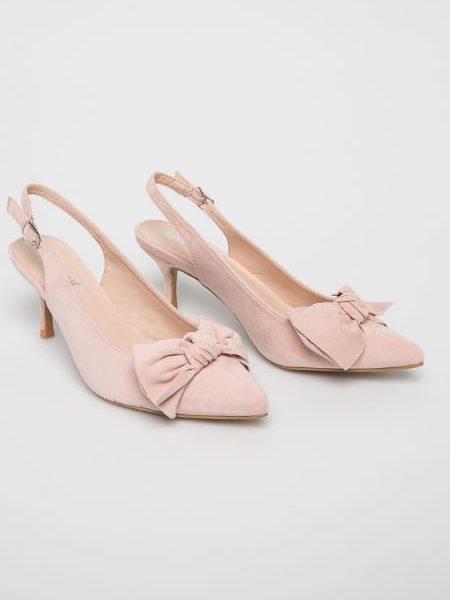 Pantofi Stiletto Eleganti Cu Toc Mic Roz