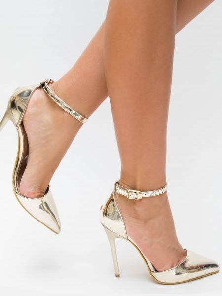 Pantofi Stiletto Metalici Arii