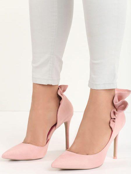 Pantofi Stiletto Roz Pal