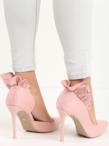 Pantofi Stiletto Roz Pudra