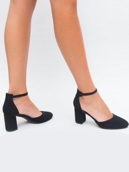 Pantofi Toc Mediu Bareta