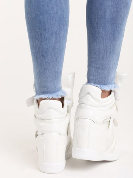 Sneakers Dama Albi Piele