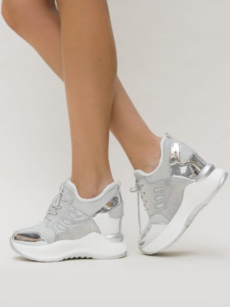 Sneakers Dama Argintii