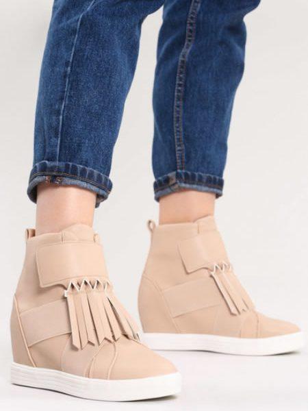 Sneakers Dama Ieftini Bej