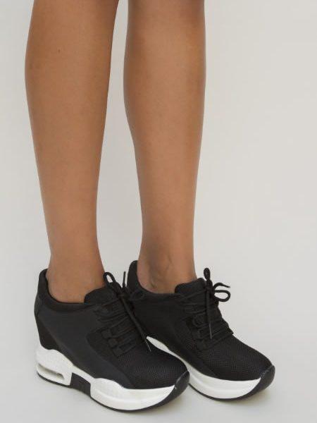 Sneakers Dama Platforma Ascunsa Negri