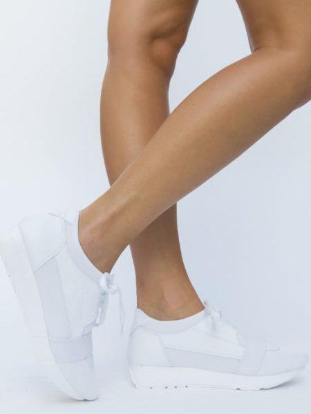 Sneakersi Dama Albi Ieftini