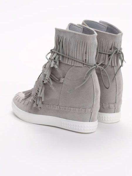 Sneakersi Dama Lungi Cu Franjuri