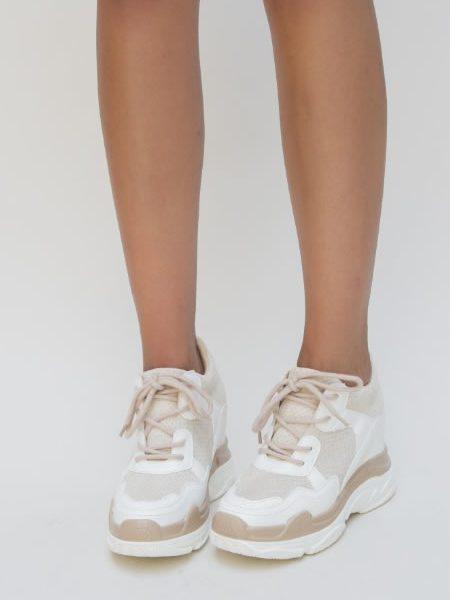 Sneakersi Dama Vara Bej