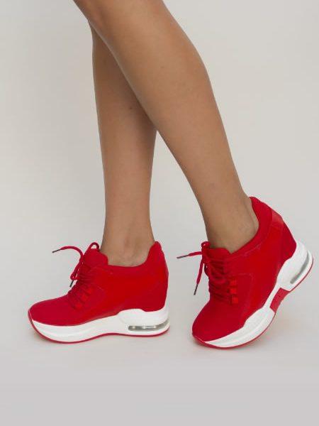 Sneakersi De Dama Rosii