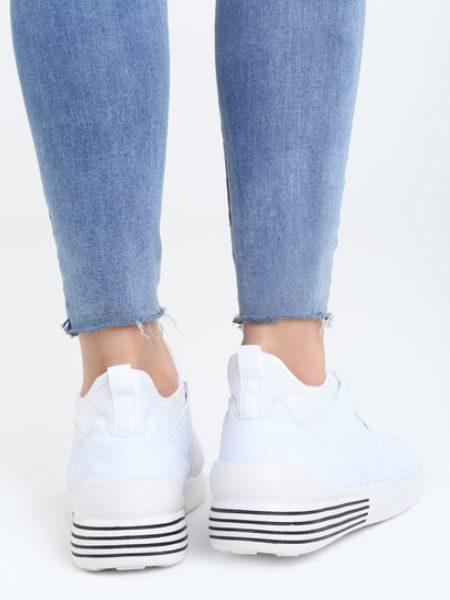 Sneakersi De Vara Albi
