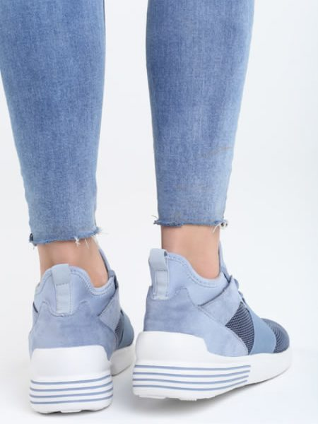 Sneakersi Sport Dama De Vara Albastri