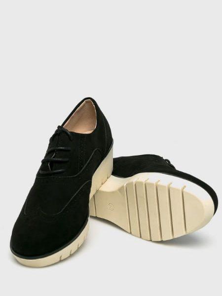 Pantofi Oxford Cu Platforma Negri